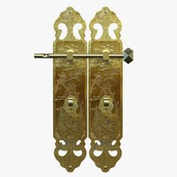chinese door handles 3D model