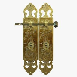 chinese door handles 3D model