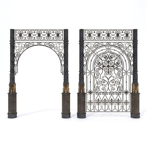 3D wrought lattice portal model