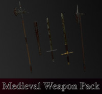 Medieval Weapon Pack (halberd, sword, mace)
