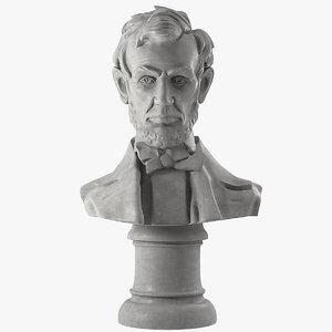 3D model abraham bust