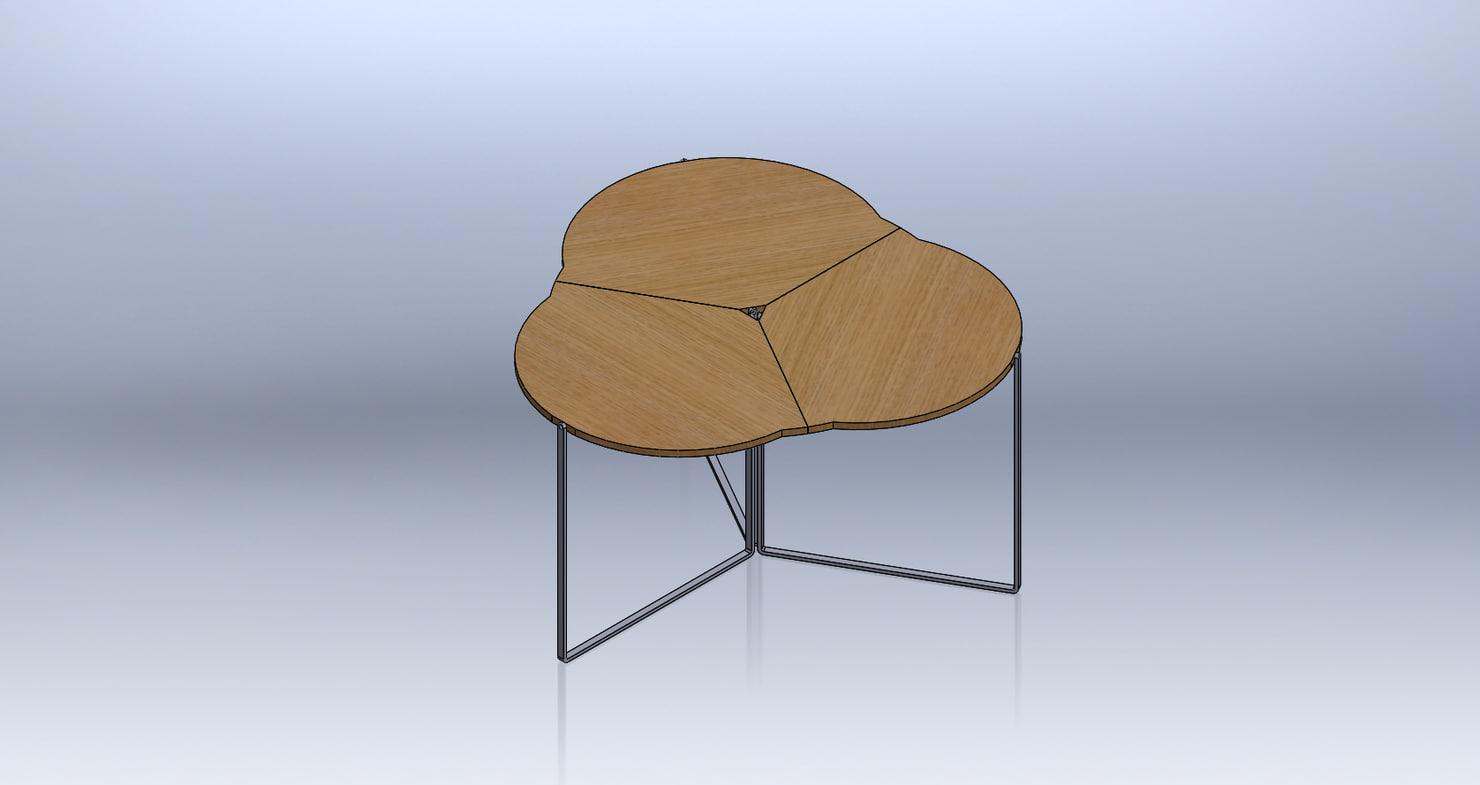 folding table 3D