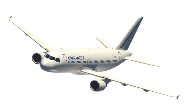 3D airbus a320-200 model