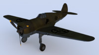 p36 aircraft ww2 3D model