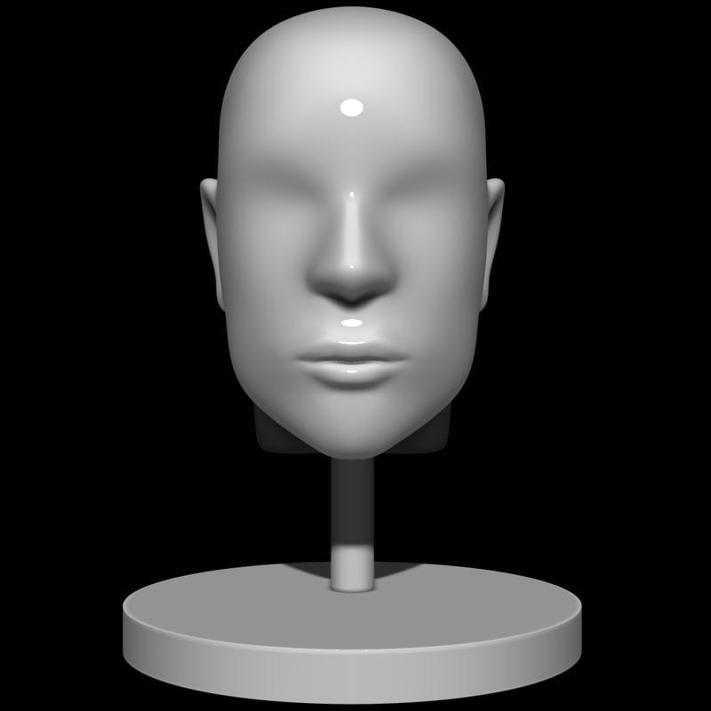 3D mannequin head man model