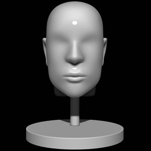 3D mannequin head man model
