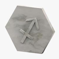 marble sagittarius 3D