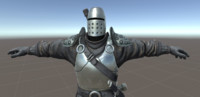3D old medieval knight rigged