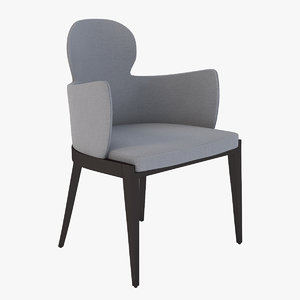 allure pls dining armchair 3D model