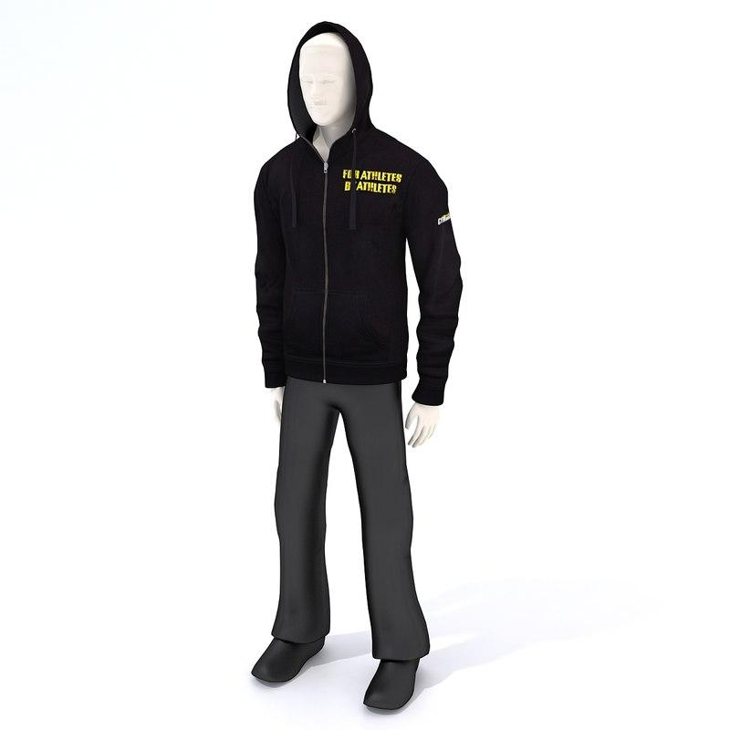 hoodie dummy 3D