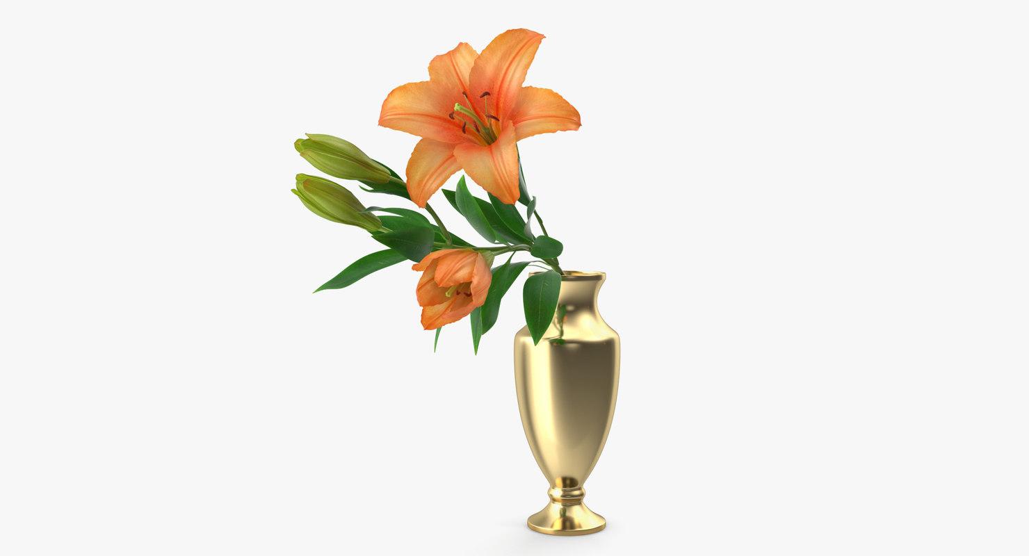 bouquet lilies 3D model