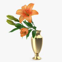 bouquet lilies 3D model