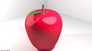 apple fruit mediterranean 3D model