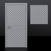door 1 decorative panel 3D model