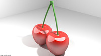 3D cherry fruit mediterranean model