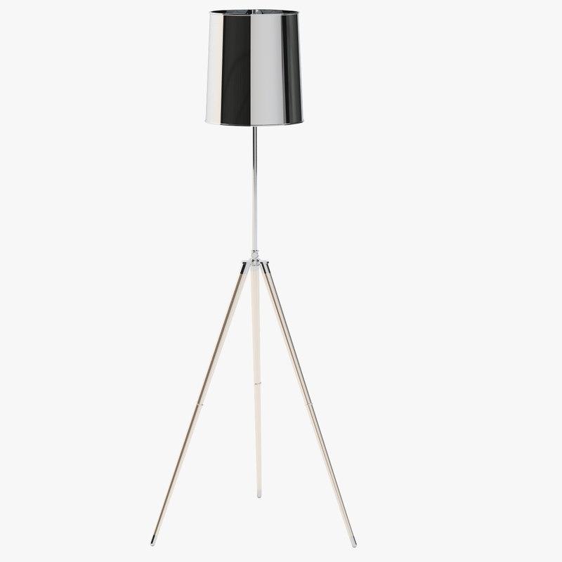 3D model zarah 1 light floor lamp