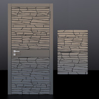 door 2 decorative panel 3D model