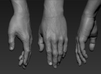 3D hand zbrush