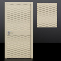 door 3 decorative panel 3D model