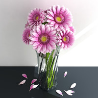 3D bouquet gerbera
