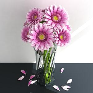3D bouquet gerbera