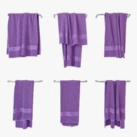 3D towels v-ray model
