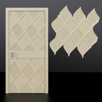 door 4 decorative panel 3D model