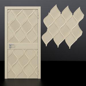 door 4 decorative panel 3D model