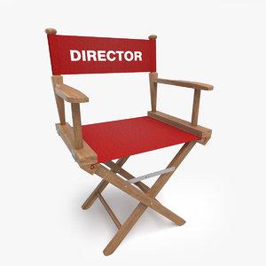 3D director s chair model