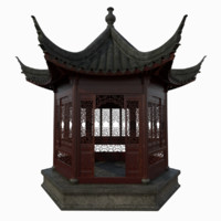 Chinese Hexagonal Pavilion