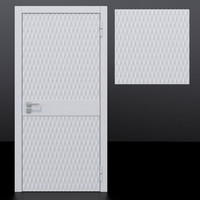 3D model door 5 decorative panel