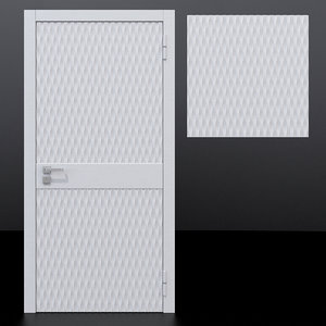 3D model door 5 decorative panel