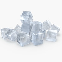 3D realistic ice cubes model
