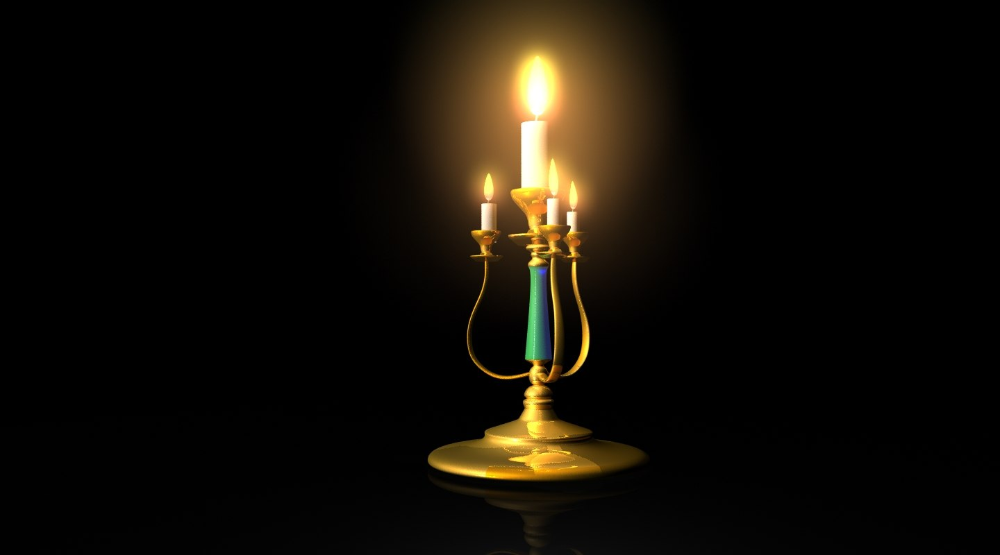 3D candle stand