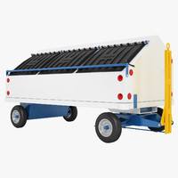 3D airport baggage cart