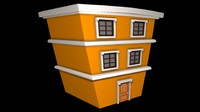 Toon House 3d model