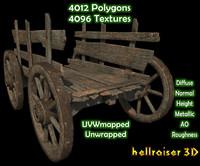 wheel cart 3D model