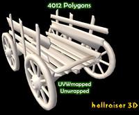 3D wheel cart
