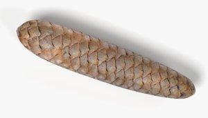 spruce cone 3D model