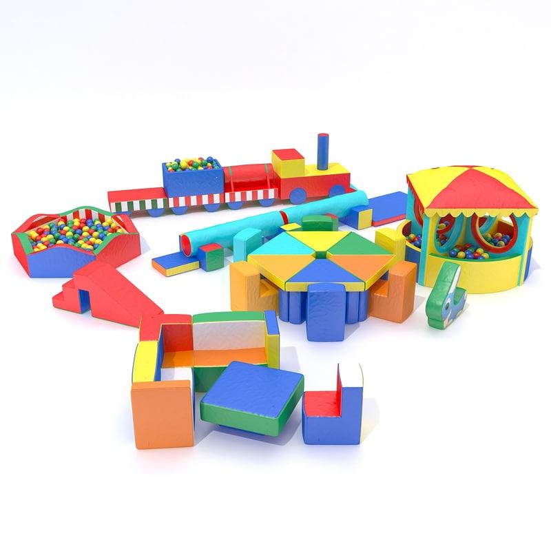 3D soft children s modules model