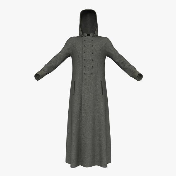 men s coat 3D model
