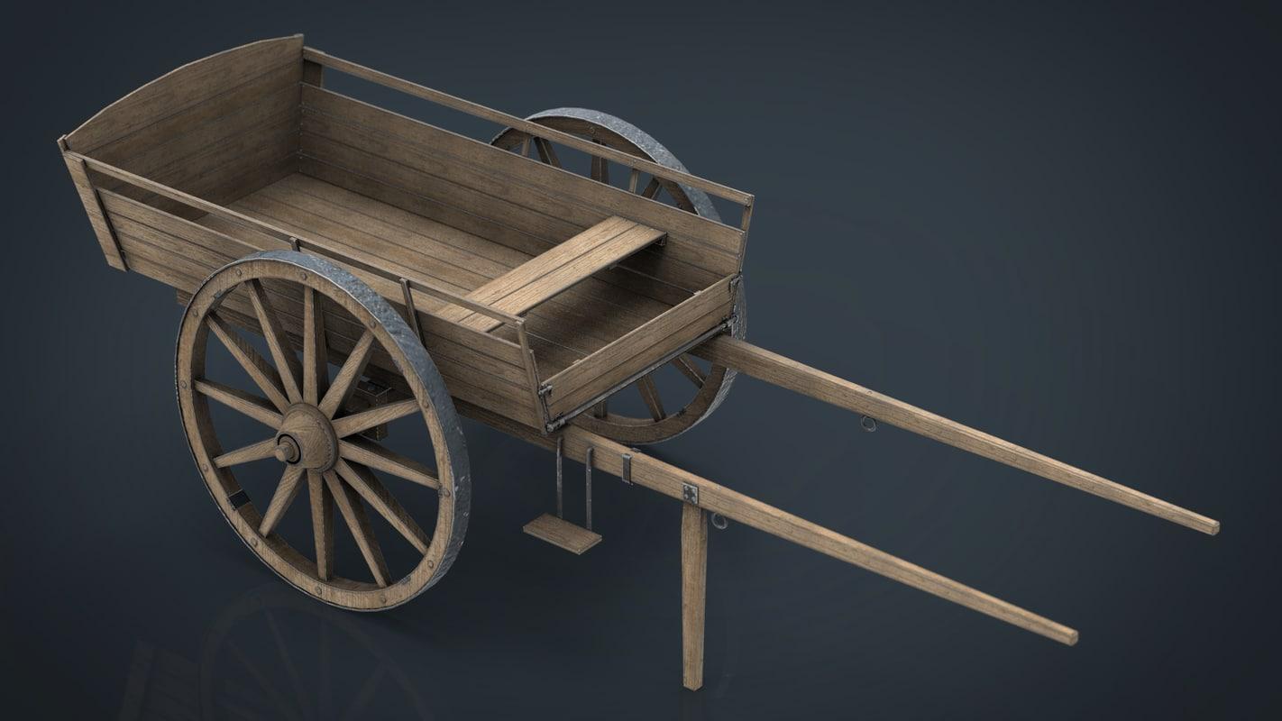 farm cart 3D