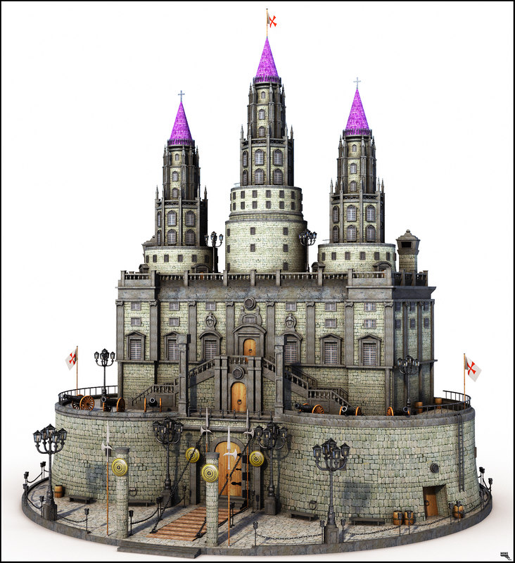 Castle 3d obj Castle collection by Medievalworlds from TurboSquid