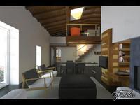 split level 3D model