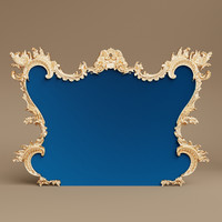 baroque arc frame wall 3D model