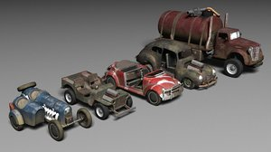 post apocalyptic car pack model