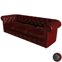 leather chesterfield sofa 3D