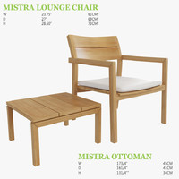 Mistra Lounge Chair and Ottoman