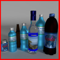 7(+4 lowpoly) bottles pack