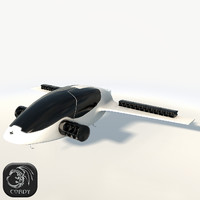3D model lilium jet flying car